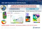 osi saf operational sst products