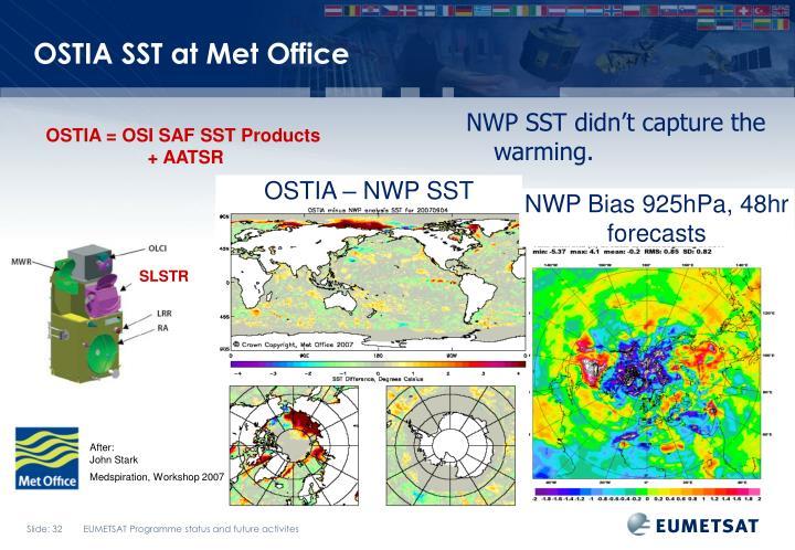 OSTIA SST at Met Office