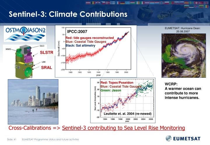 Sentinel-3: Climate Contributions