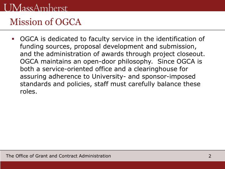 Mission of OGCA