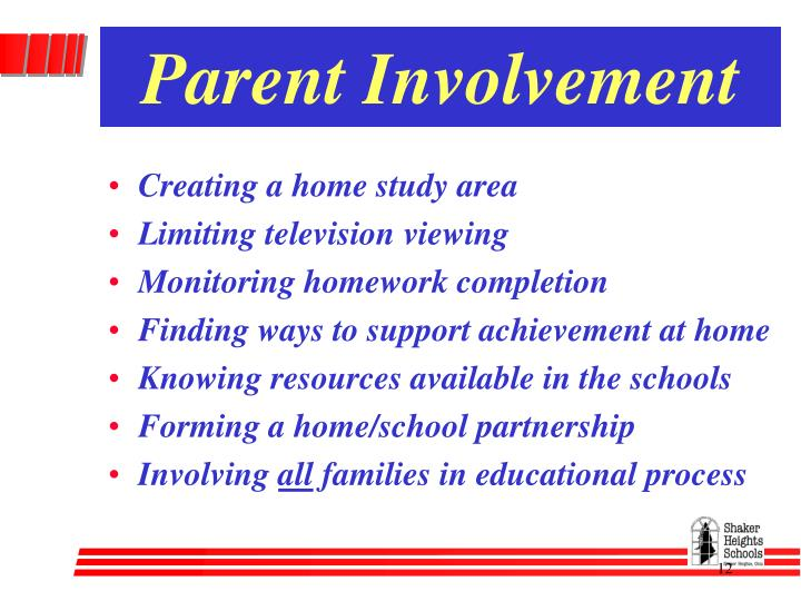 thesis on parental involvement in low income schools - parent involvement, whether in the form of physically volunteering in the school, fundraising efforts, attending school events, helping students with homework, attending pta meetings, or other types of involvement, is significantly lacking at st clements school and other schools across the nation.
