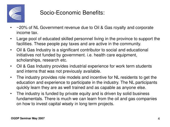 Socio-Economic Benefits: