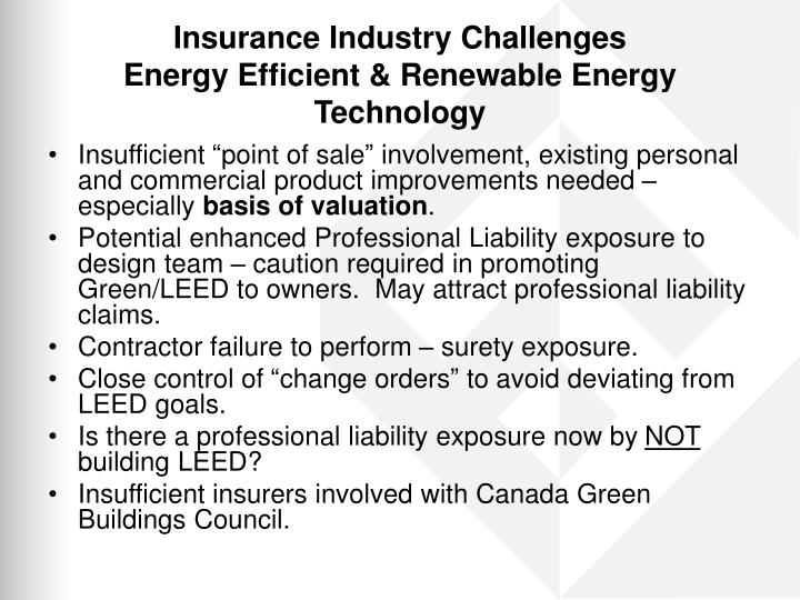 Insurance Industry Challenges