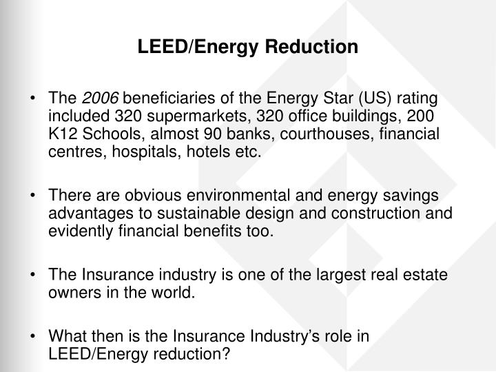 LEED/Energy Reduction