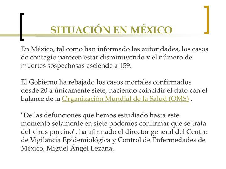 SITUACIÓN EN MÉXICO