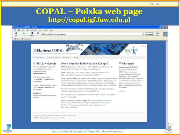 COPAL – Polska web page