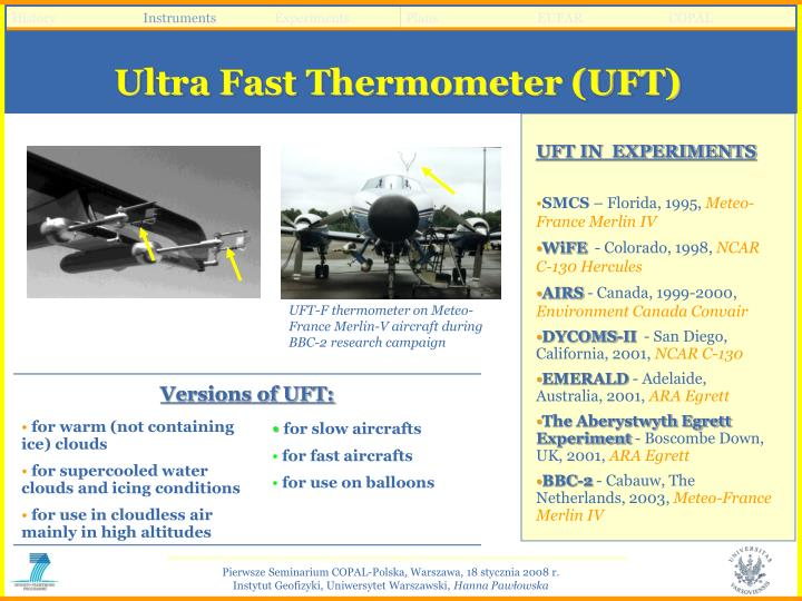 Ultra Fast Thermometer (UFT)