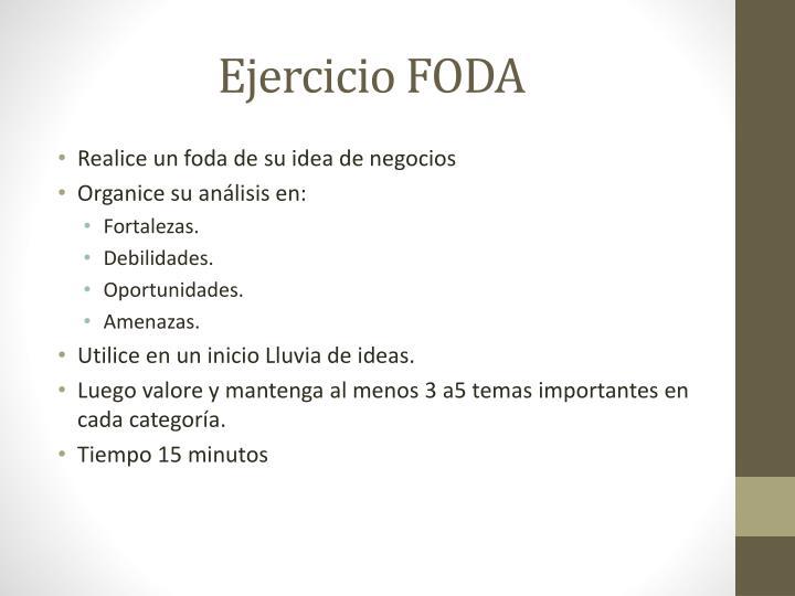Ejercicio FODA