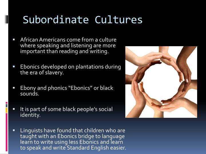 Subordinate Cultures