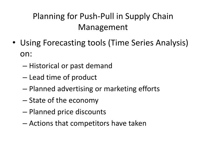 Planning for push pull in supply chain management