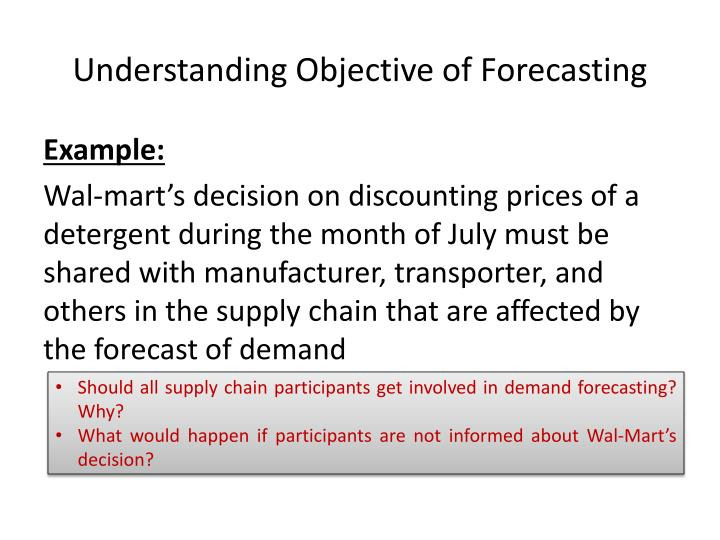 Understanding Objective of Forecasting