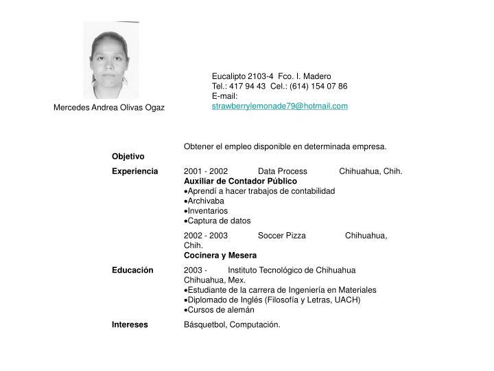 Mercedes Andrea Olivas Ogaz