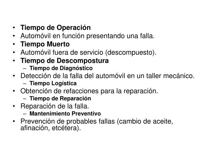 Tiempo de Operación