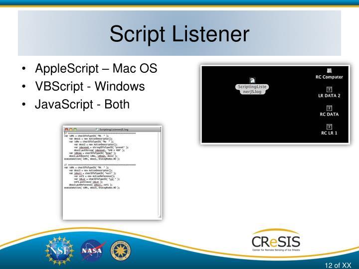 Script Listener