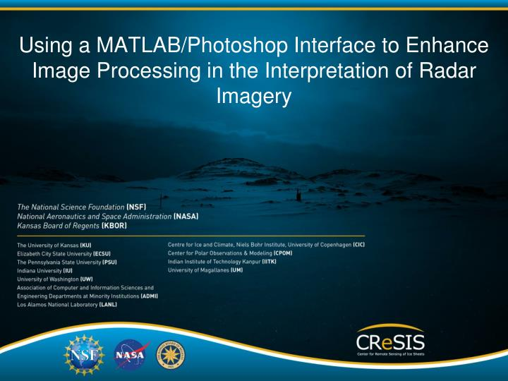 Using a MATLAB/Photoshop Interface to Enhance Image Processing in the Interpretation of Radar Imagery