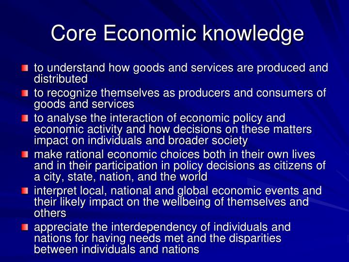 Core Economic knowledge