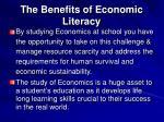 the benefits of economic literacy