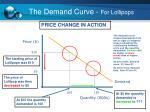 the demand curve for lollipops