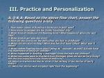 iii practice and personalization