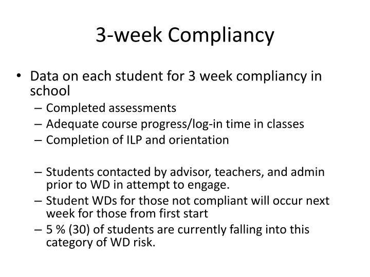 3-week Compliancy