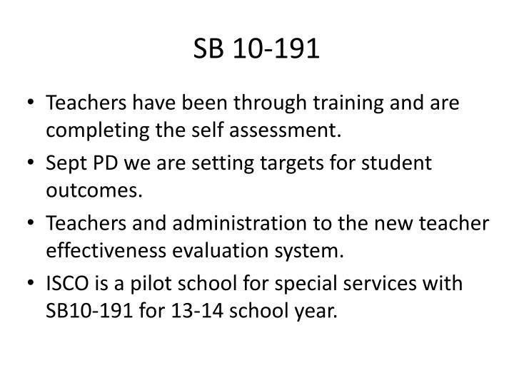 SB 10-191
