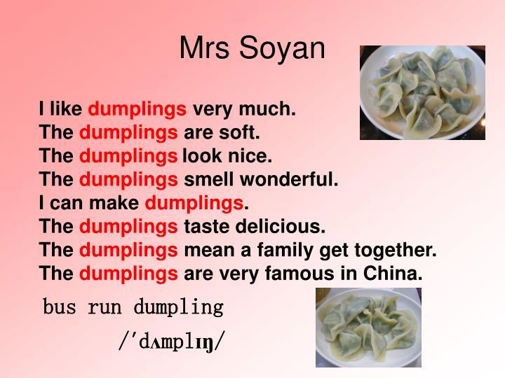 Mrs Soyan