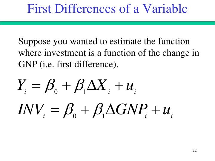 First Differences of a Variable