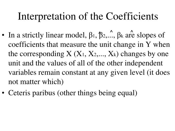 Interpretation of the Coefficients