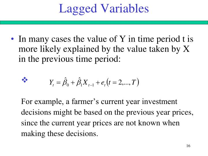 Lagged Variables