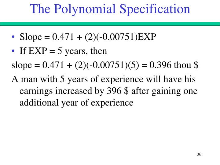 The Polynomial Specification