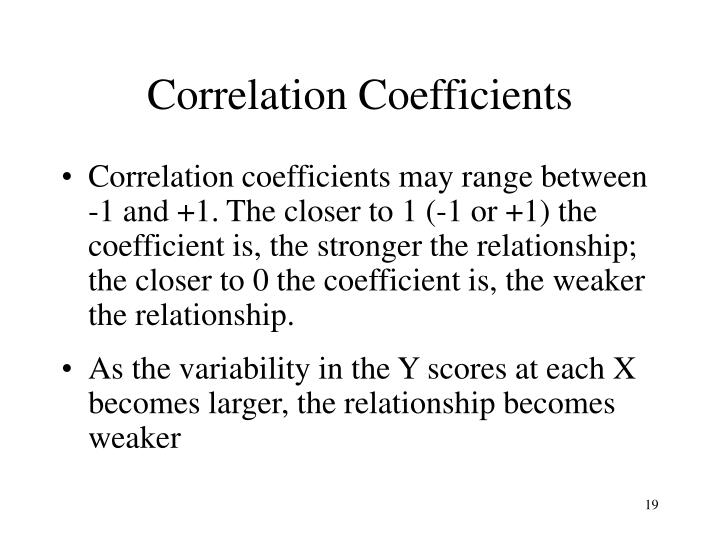 Correlation Coefficients