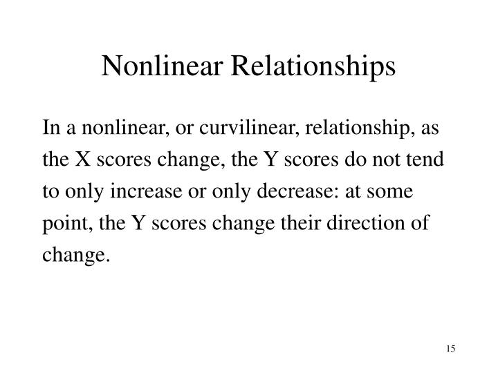 Nonlinear Relationships