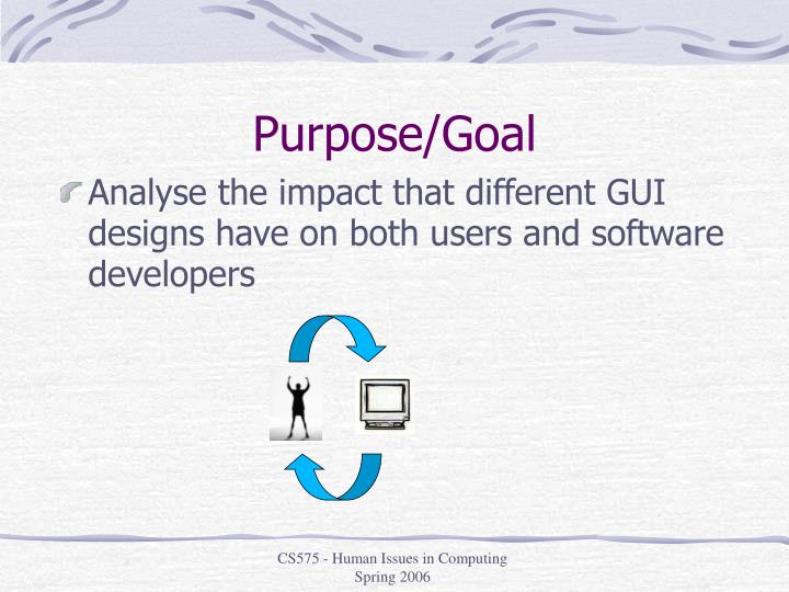 Purpose/Goal