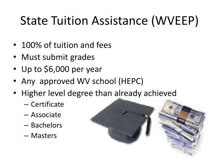 State Tuition Assistance (WVEEP)