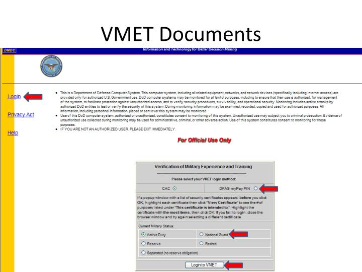 VMET Documents