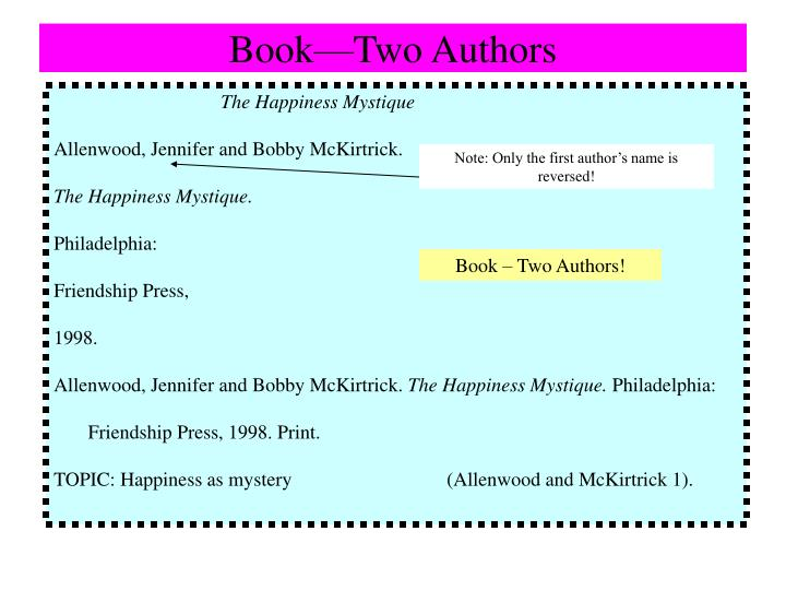 Book—Two Authors