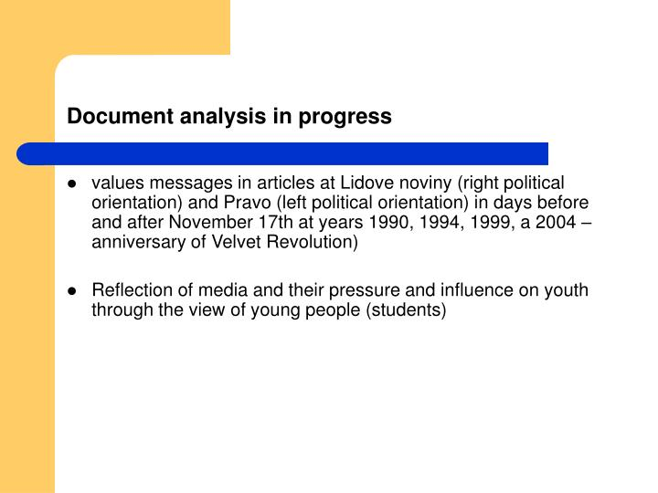 Document analysis in progress