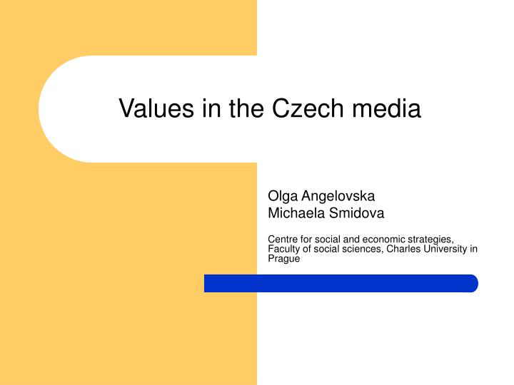 Values in the Czech media