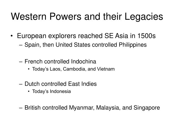 Western Powers and their Legacies