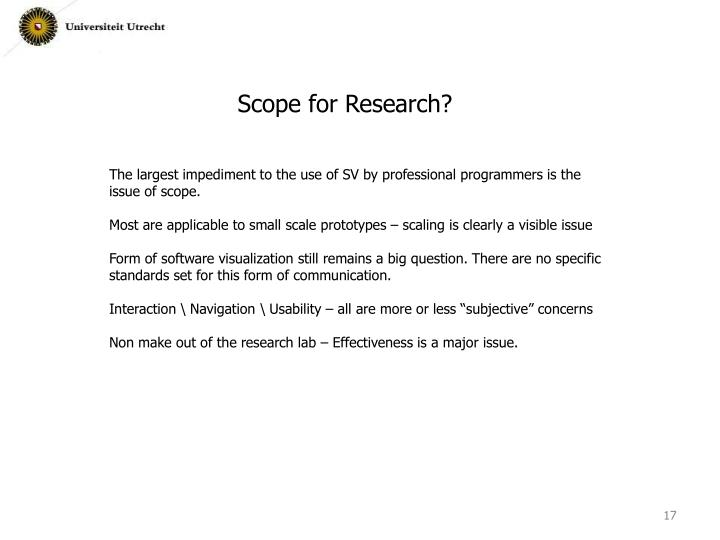 Scope for Research?