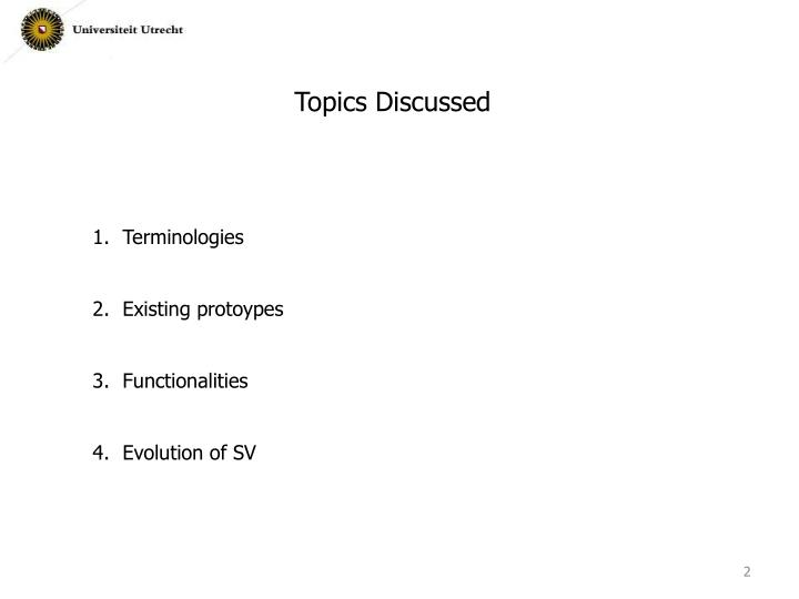 Topics Discussed