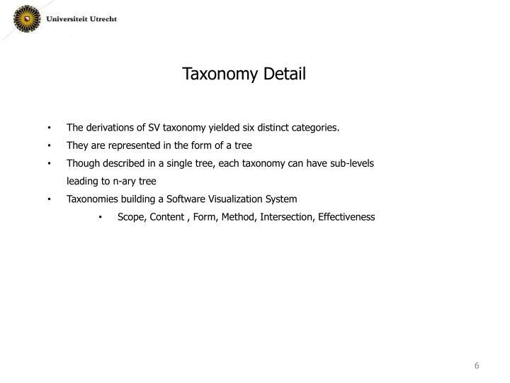 Taxonomy Detail
