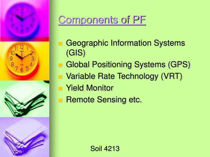 Components of PF