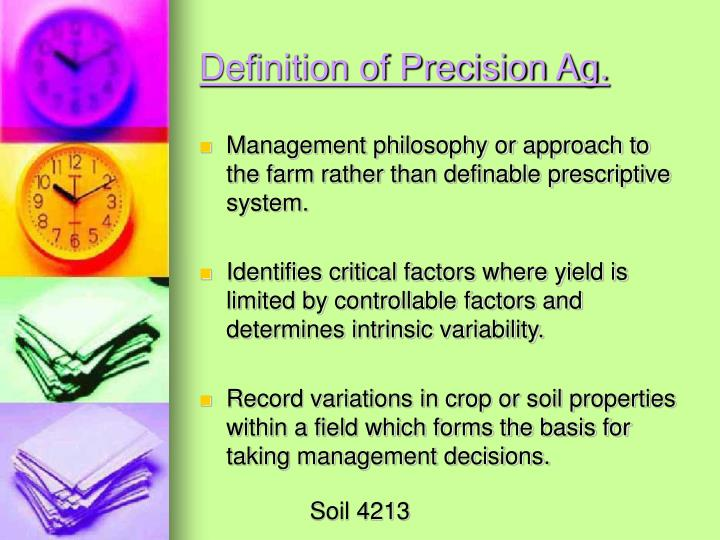 Definition of Precision Ag.
