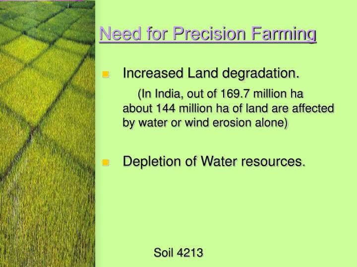 Need for Precision Farming