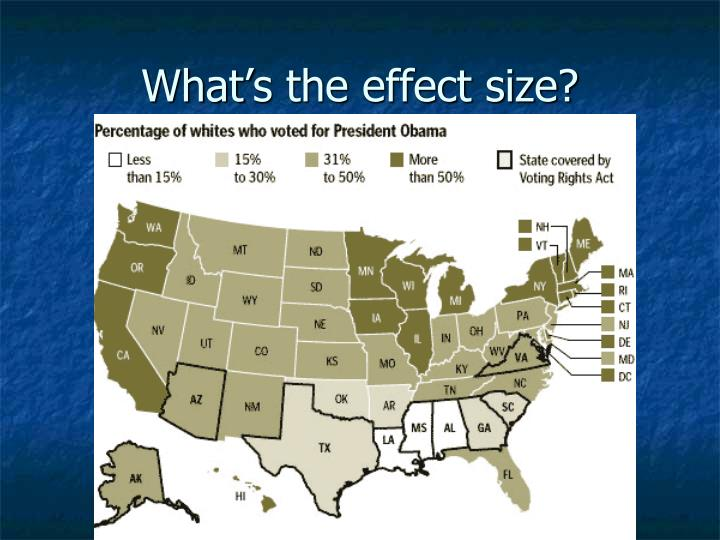 What's the effect size?