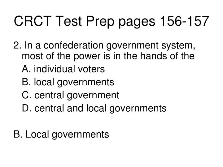 CRCT Test Prep pages 156-157