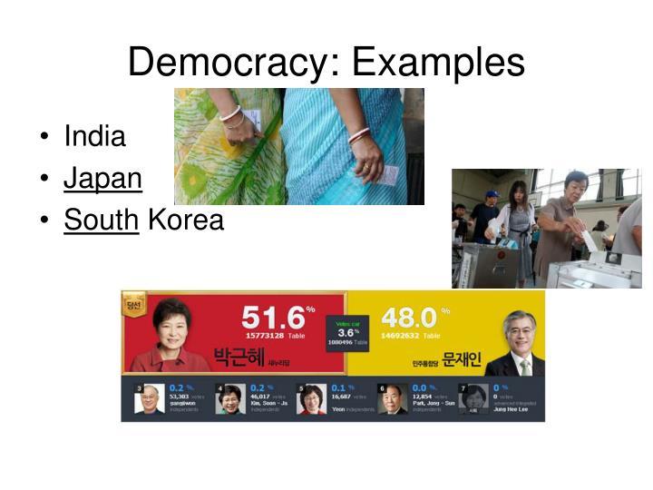 Democracy: Examples
