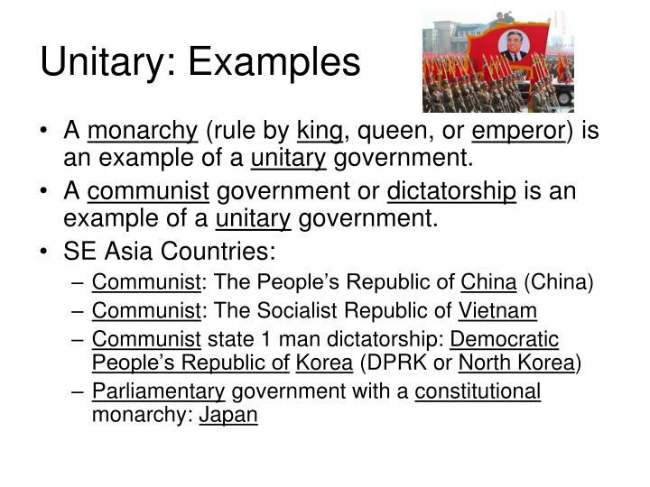Unitary: Examples