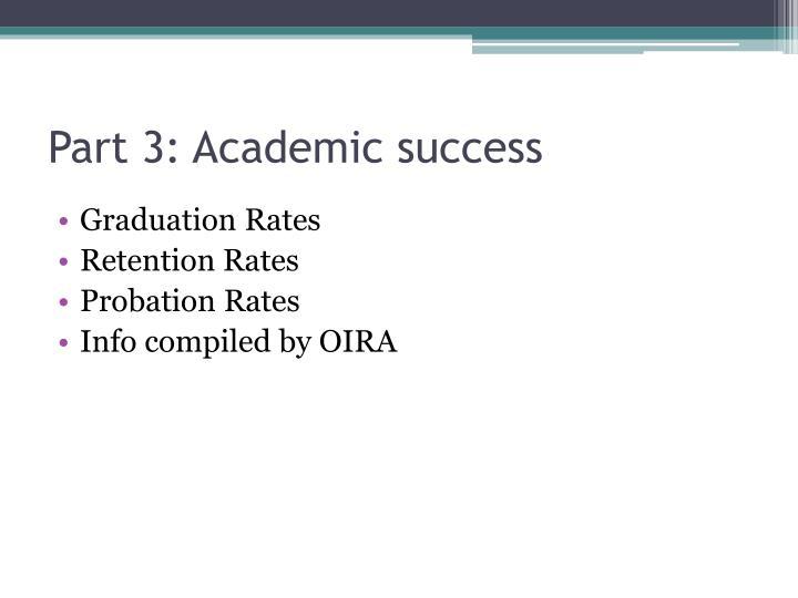 Part 3: Academic